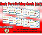 1st Grade Body Part Striking Pattern Task Cards