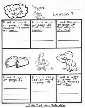 1st Grade Book 2 Bundle  Harcourt Storytown Lessons 7-12