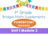 Bridges 1st Grade Math POWERPOINT Lessons Unit 1, Module 2 Meet the Number Rack
