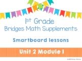 1st Grade Bridges Math Smartboards Unit 2 Module 1 Count, Compare, & Add Dominos