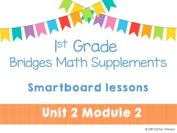 1st Grade Bridges Math Smartboards Unit 2, Module 2 Fact Families & Story Probs