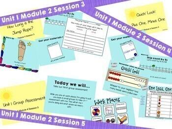 1st Grade Bridges Math Unit 1, Module 4 Adding & Subtracting to Ten  Smartboards