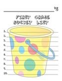 1st Grade Bucket List