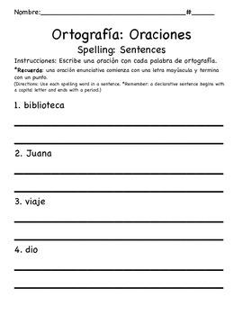 1st Grade CA Tesoros Unit 5 Spelling Bundle in Spanish