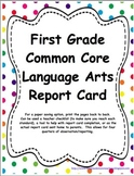 1st Grade: CC LA, Math, & NGSS Report Cards