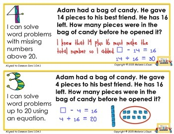 1st Grade CC Math Posters with Marzano Scales