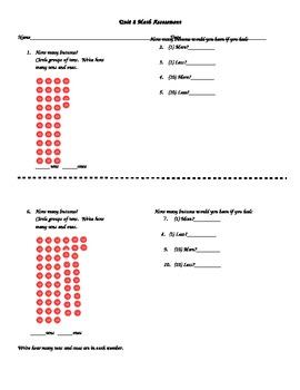 1st Grade CCGPS Unit 2 Math Assessment