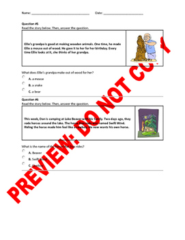 1st Grade CCSS Ask and Answer Questions CCSS Question Bank
