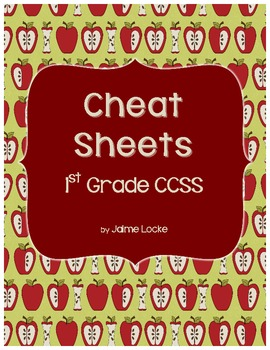 1st Grade CCSS Cheat Sheets