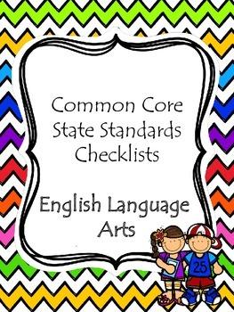 1st Grade CCSS ELA Checklists