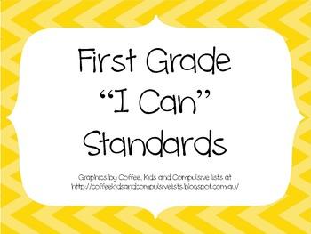 1st Grade CCSS ELA I Can Standards