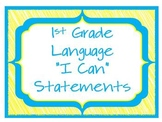 "1st Grade CCSS ELA ""I Can"" Statements (Scribble Theme)"