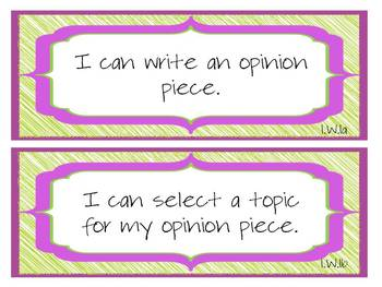 """1st Grade CCSS ELA & Math """"I Can"""" Statements (Scribble Theme)"""