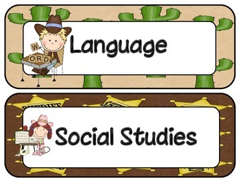 1st Grade Common Core ELA and Math I Can Statements Western Theme