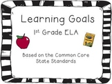 1st Grade ELA CCSS Learning Goal Cards