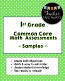 1st Grade CCSS Math Assessment Sample
