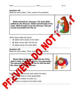 1st Grade CCSS RL.1.2 Assessment (Central Messages/Morals & Lessons)