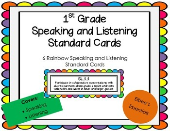 1st Grade CCSS  Rainbow Cards