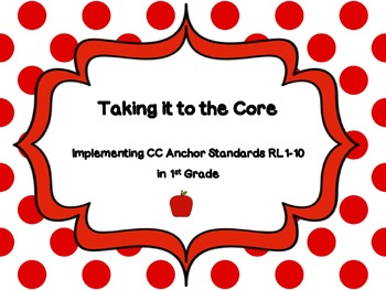 1st Grade CCSS Reading Standards Lesson Ideas, Scaffolds & Examples