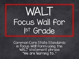 1st Grade CCSS WALT Statement Focus Wall-Rainbow