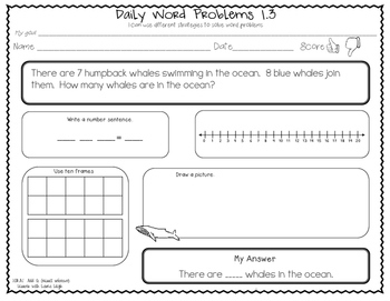 1st Grade CCSS Word Problems  (Add to: Result Unknown)