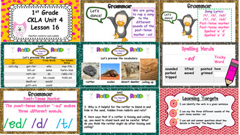 1st Grade CKLA EngageNY Supplemental PowerPoints, Unit 4, Lessons 16-20