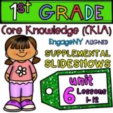1st Grade EngageNY CKLA  Core Knowledge PowerPoints, Unit 6, Lessons 1-12