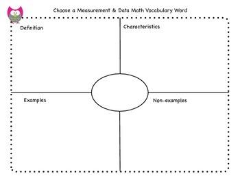 1st Grade Common Core Measurement & Data Vocabulary Booklet
