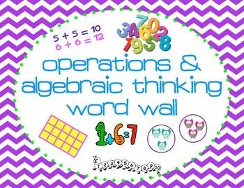 1st Grade Common Core Operations & Agebraic Thinking Vocab