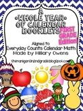 1st Grade Calendar Booklet *WHOLE YEAR*