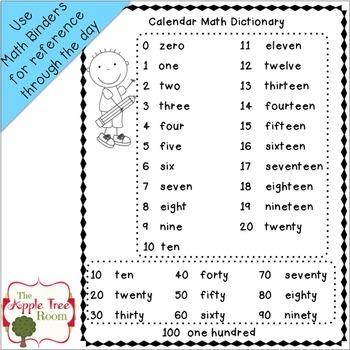 Calendar Math Daily Journal 1st Grade CCSS
