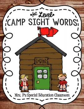 1st Grade Camp Sight Words Activity Pack