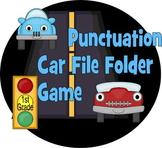 1st Grade Car Themed Punctuation File Folder Game