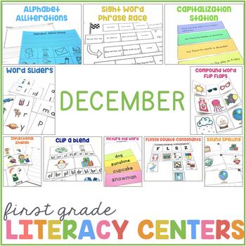 1st Grade Centers for December