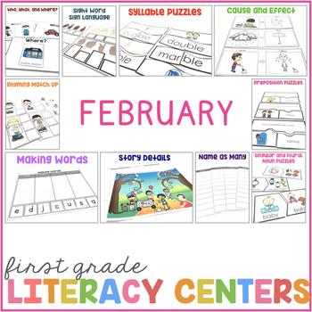 1st Grade Centers for February