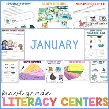 1st Grade Centers for January
