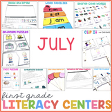 1st Grade Centers for July
