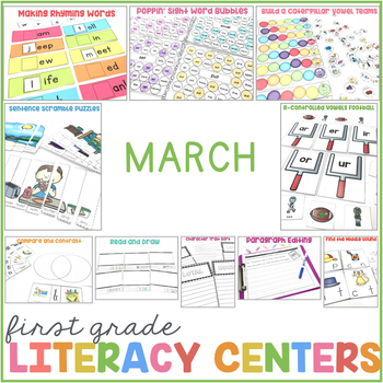 1st Grade Centers for March