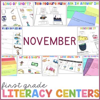 1st Grade Centers for November