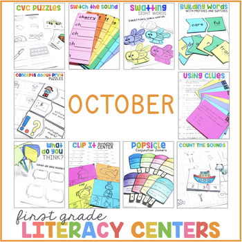 1st Grade Centers for October
