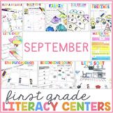 September Literacy Centers for 1st Grade