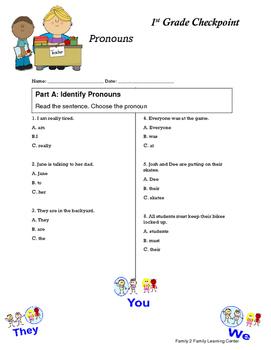 1st Grade Checkpoint: Pronouns