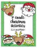 1st Grade Christmas Activities