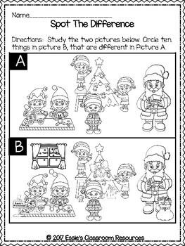 1st Grade Winter Activities FREEBIE