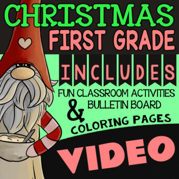 Christmas Activities for First Grade ★ 1st Grade Christmas Math and Reading