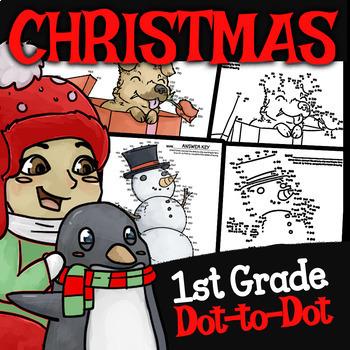 1st Grade Christmas Dot to Dot ★ Christmas Counting Activity ★ Grade 1 Christmas