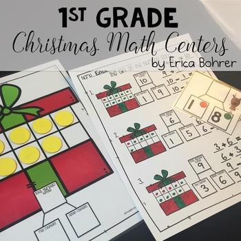 1st Grade Christmas Math Centers