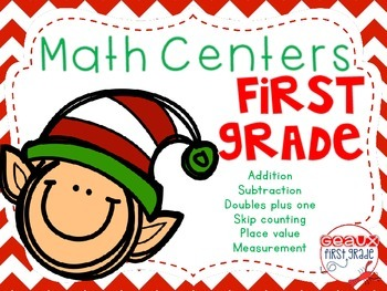 1st Grade Christmas Math Centers and Games