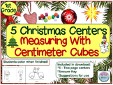 1st Grade Christmas Measurement and Color Math Centers For A Week!