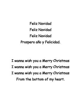 1st Grade Christmas Spanish Vocabulary